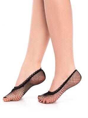 Siyah File Babet Çorap