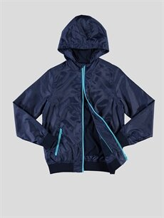 %100 Polyester %100 Pamuk İnce Mont Lacivert İnce Mont