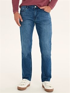 %98 Pamuk %2 Elastan Normal Bel Normal Jean 779 Regular Fit Jean Pantolon